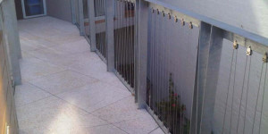 galvanized balustrade