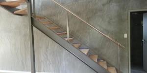 steel floating stairs